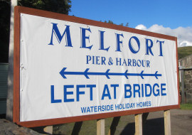Melfort Pier & Harbour Sign